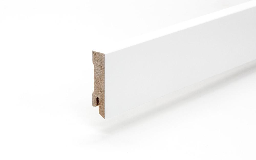 Perspektive von Sockelleiste 16 x 60 x 2440 mm MDF weiß gefast Modern 60 Clip-Nut