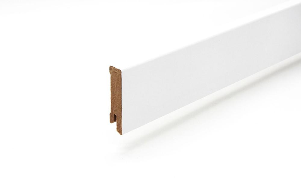 Sockelleiste 16 x 58 x 2400 mm foliert weiß (ähnlich RAL 9003)