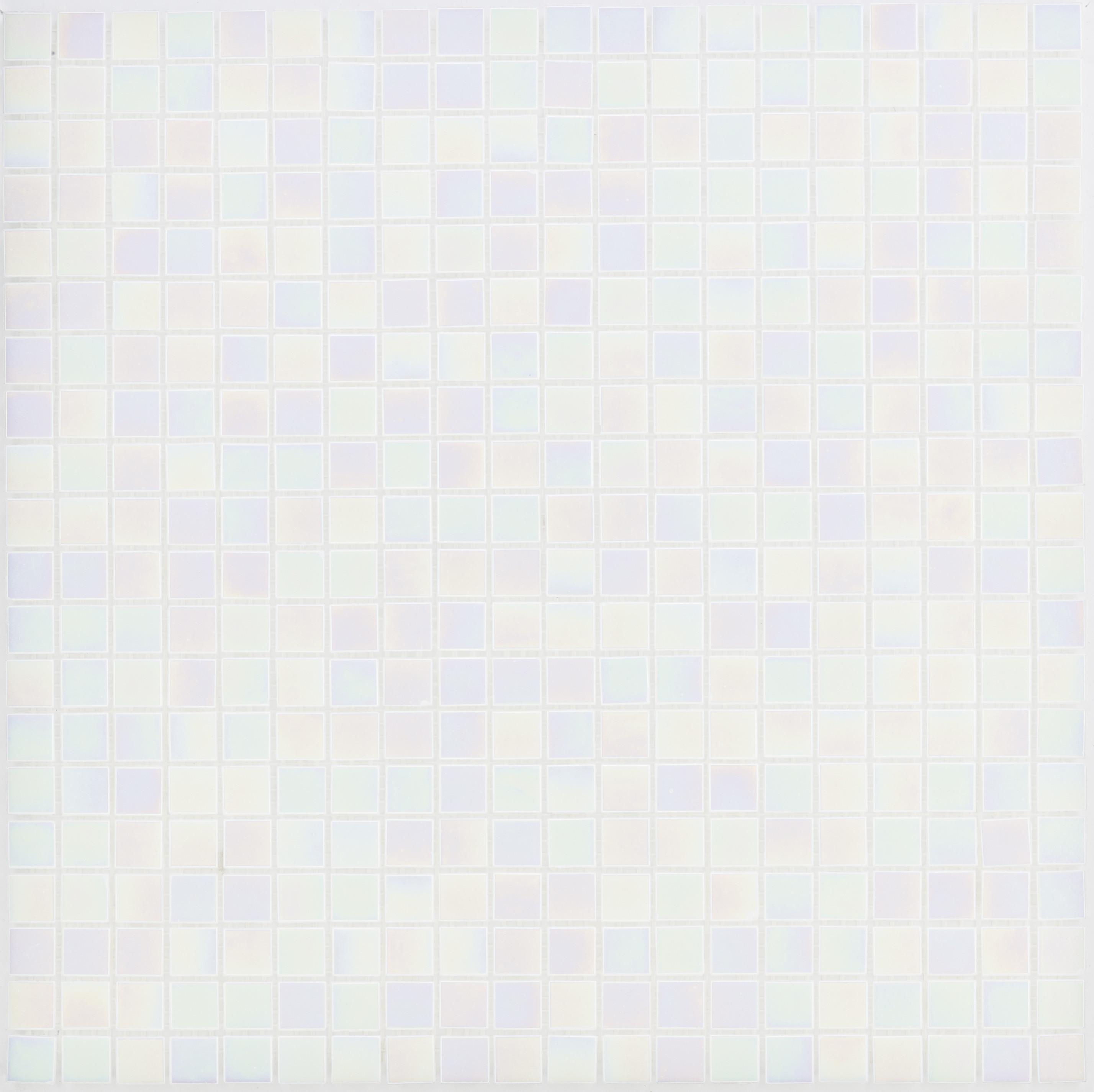 Bild von Glasmosaikfliesen Perlmutt Weiß Glänzend für die Wand 32,7 x 32,7 cm - Interio