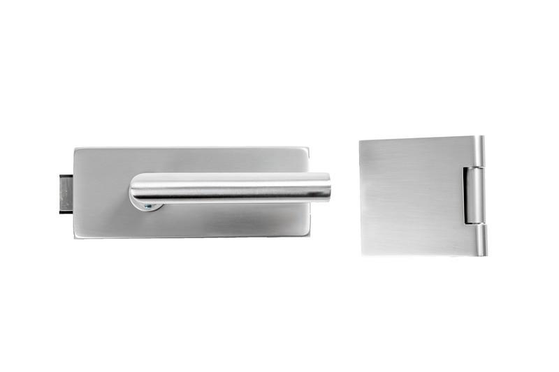 Bild von Basic Omega 2.0 Beschlagset für Glas-Doppelflügeltür in Niro matt - Erkelenz
