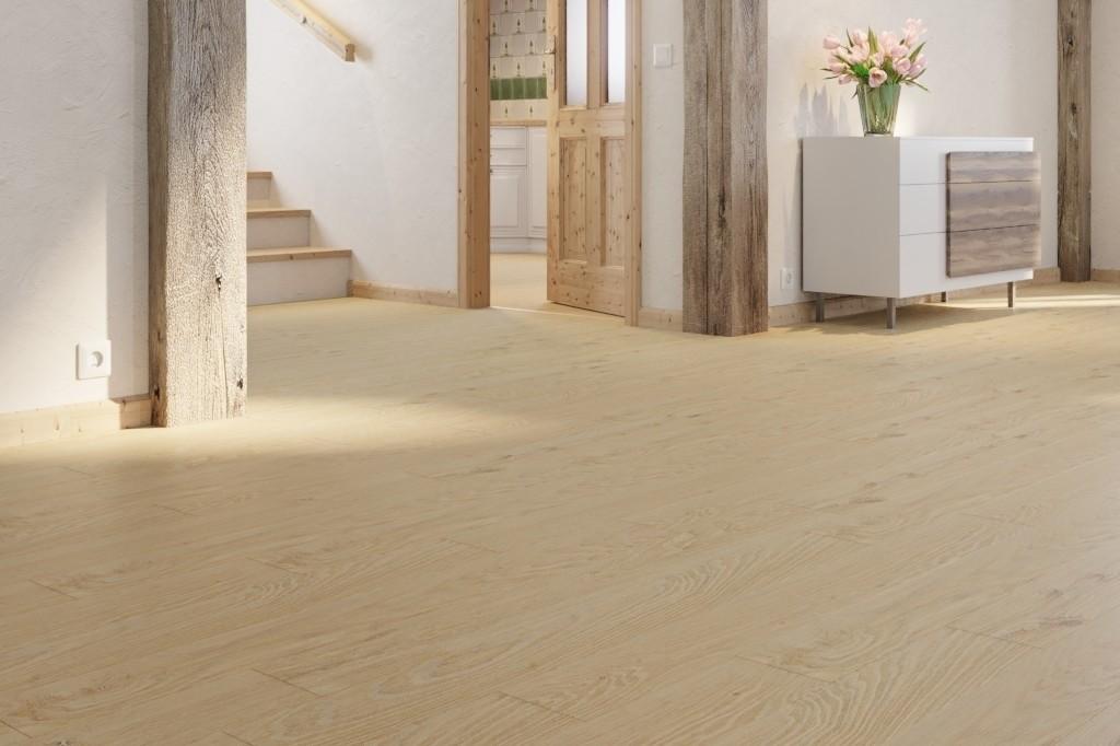 Eiche lebhaft white washed 1-Stab Stabparkett Longlife-Parkett Boden Premium Residence PS 300-8236 - MEISTER