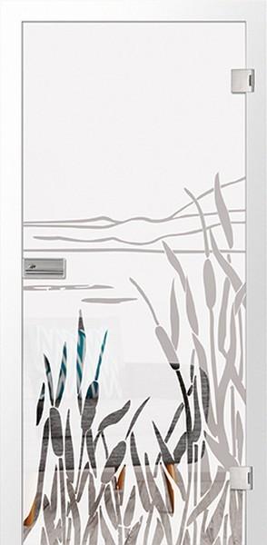 Floral 2 Mattierung Glastür mit Motiv klar - Erkelenz