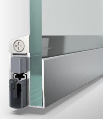 Bild von Glastürdichtung Schall-Ex silberfarben eloxiert - Interio