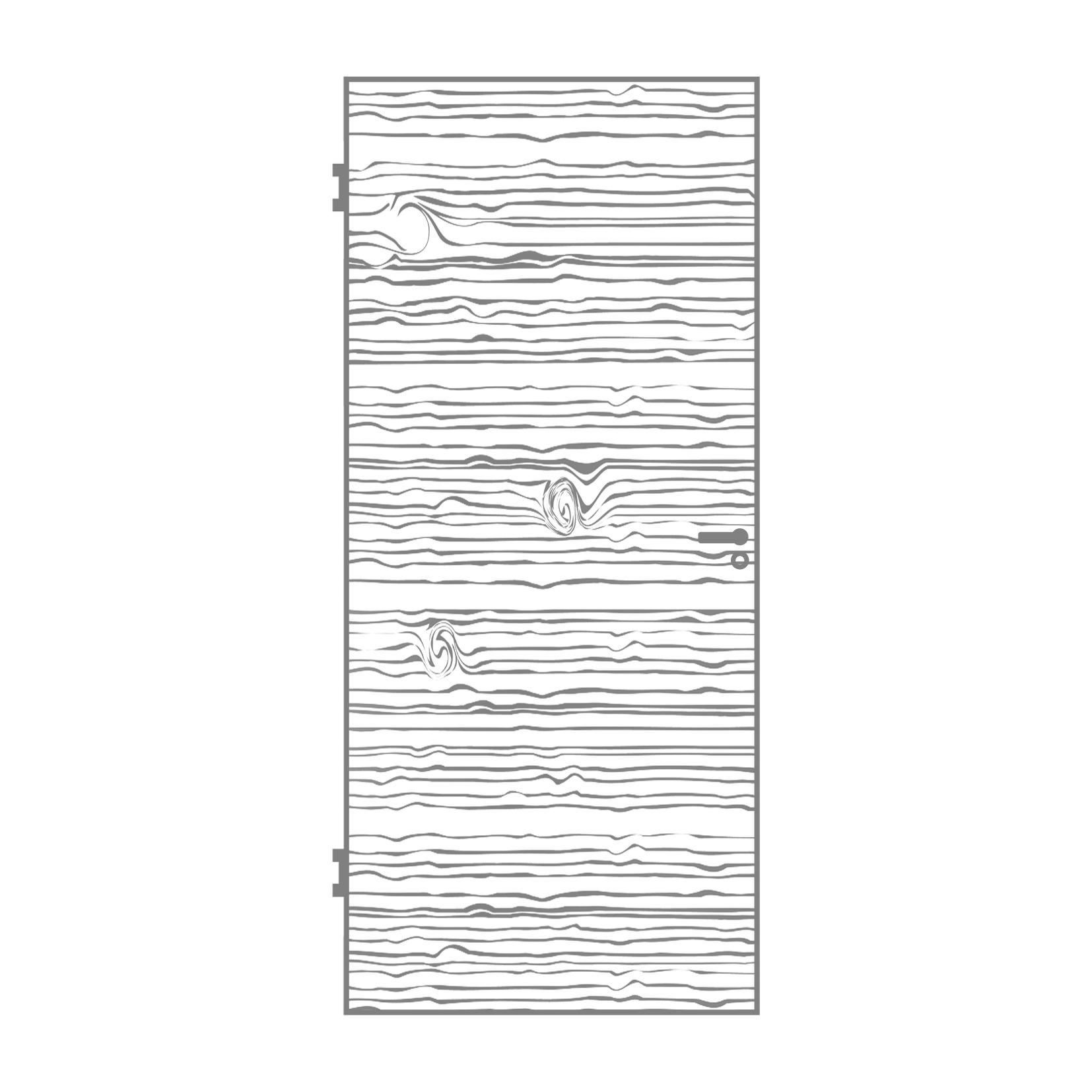 Zeichnung Massivholztür Modell TG-1 Quer-furniert