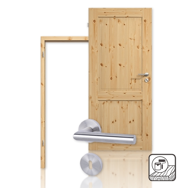 innent r set massivholzt r te 2 kiefer astig lackiert mit zarge und dr cker. Black Bedroom Furniture Sets. Home Design Ideas