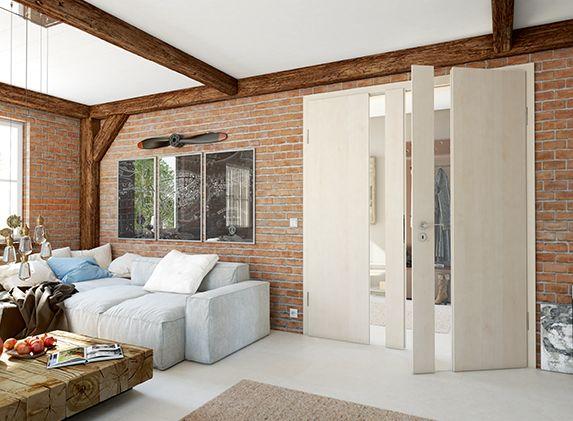 Doppelflügelige CPL-Tür von Lebo im Wohnzimmer