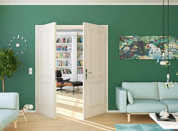 Formelle Doppelflügeltür von Lebo im Wohnzimmer