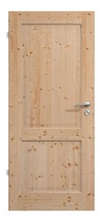 Massivholz-Landhaustür mit 2 Vollholzfüllungen<br>in Fichte / lackiert, Produktbild