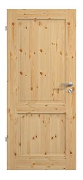 Massivholz-Landhaustür mit 2 Vollholzfüllungen<br>in Kiefer / lackiert, Produktbild