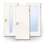 Rauchschutz-Türen, weiß, CPL, Weißlack