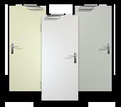 Brandschutz-Tür, weiß, CPL, Weißlack