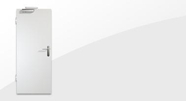 Weiße T30-Brandschutz Wohnungstür von Westag & Getalit