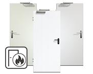Weiße Brandschutztüren
