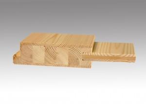 Ansicht moderne Massivholztür aus Kiefer
