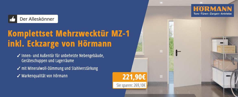 Komplettset Mehrzwecktür MZ-1 inkl. Eckzarge - Hörmann