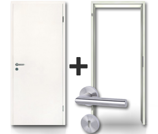 Weißlack, Innentür, Komplettset, Sparen, Tür und Zarge, Jeld-Wen