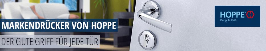 Türdrücker der Marke Hoppe, Türdrücker-Garnitur, Edelstahl, Qualität zu günstigen Preisen, Türbeschläge