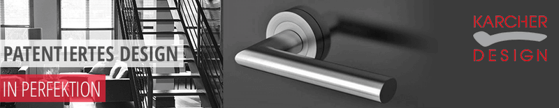 Marken-Türdrücker von Karcher Design, Design-Türdrücker, hochwertig, funktional