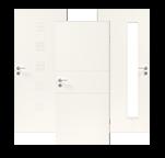 Drei weiße Innentüren der Lombardo Modellreihe