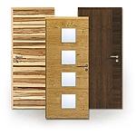 Echtholzfurnierte Türen in Queroptik