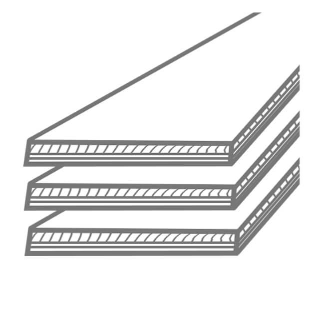 Icon drei gestapelte Bodenbeläge