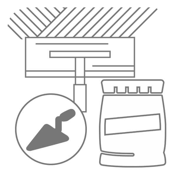 Icon Fliesenzubehör Spachtel und Fliesenmörtel